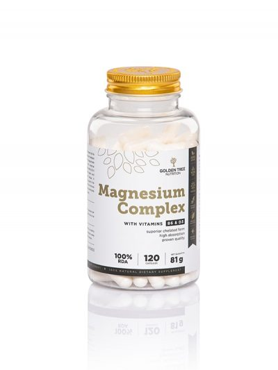 Natürliches Magnesium mit Vitaminen B6 und D3 - Kapseln