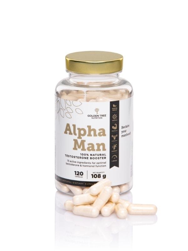 Alpha Man 100 % Natural Testosterone Booster - Kapseln