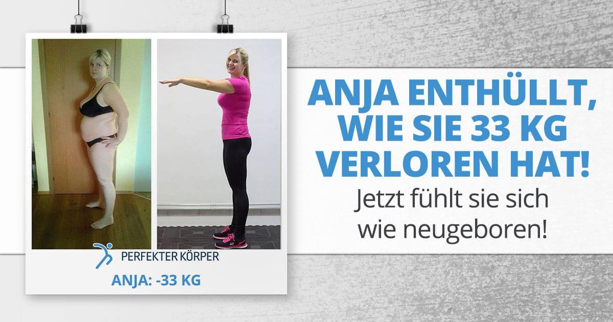 Anja enthüllt, wie sie 33 kg verloren hat! Jetzt fühlt sie sich wie neugeboren!