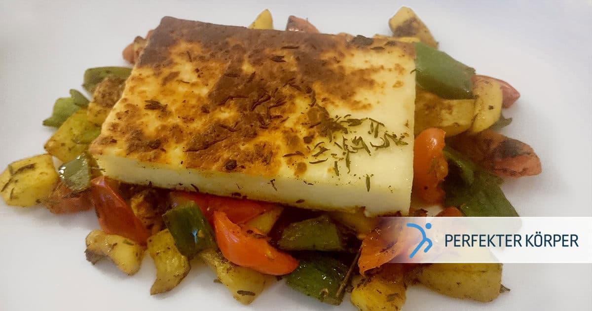 pk-rezepte-grillkase-auf-gemusebett