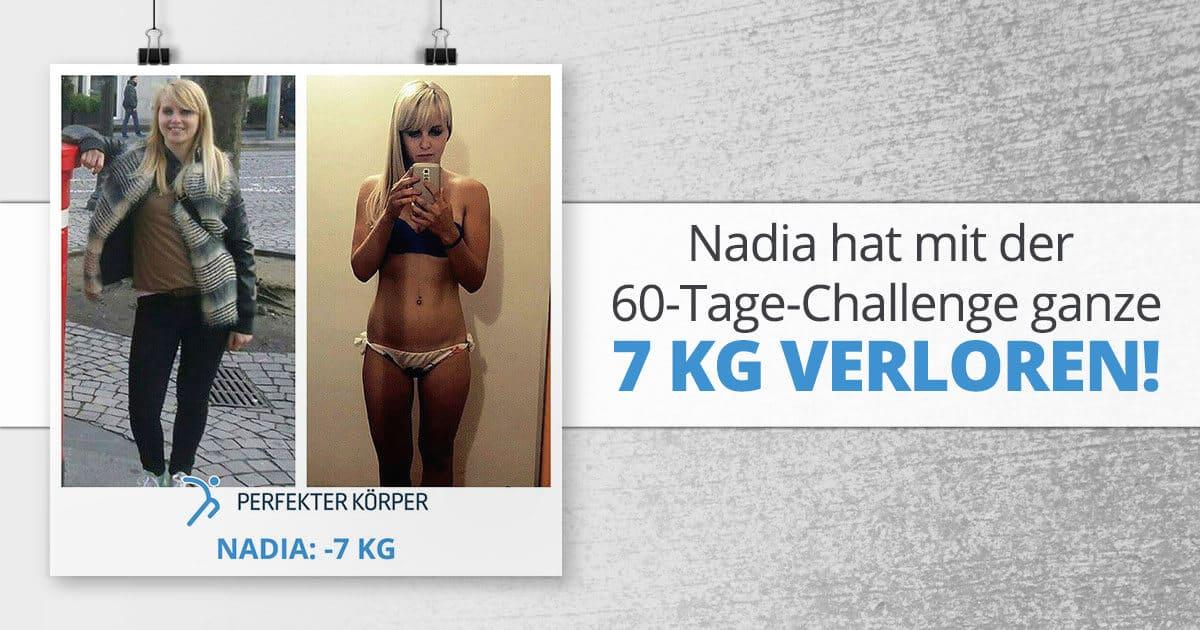 Nadia hat mit der 60-Tage-Challenge ganze 7 kg verloren!