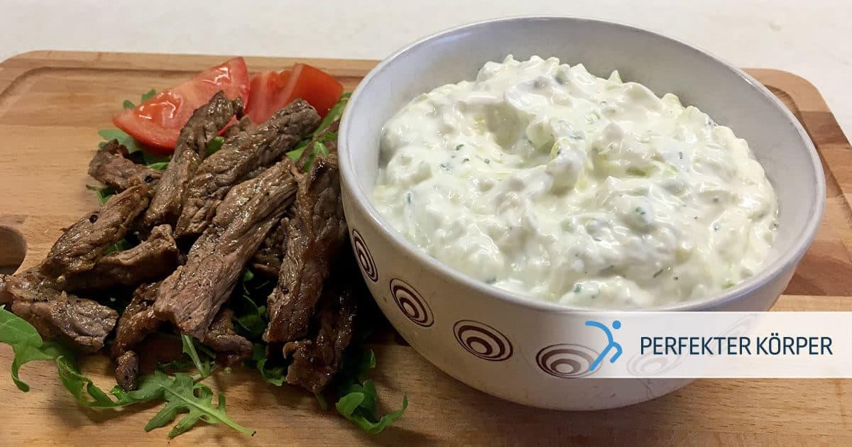 PK-rezepte-Saftige-Rindfleischstreifen-mit-selbstgemachtem-Zaziki