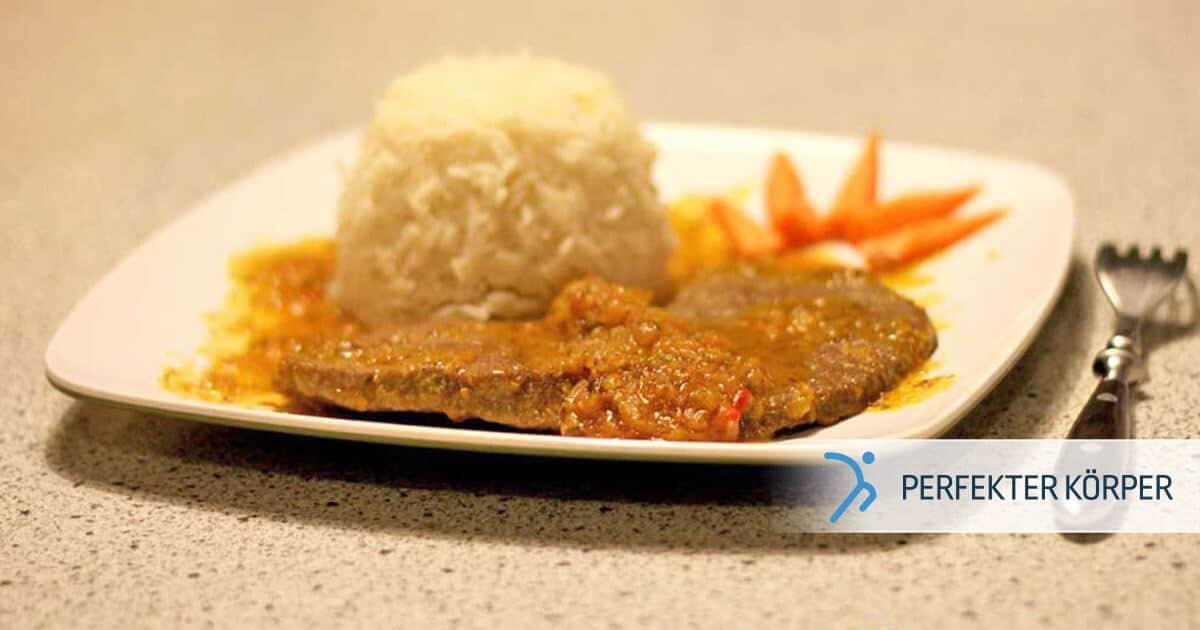 Kalbfleisch-Medaillons mit Basmati-Reis