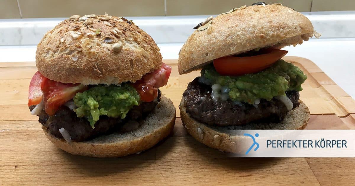 Fit-Burger mit Avocado-Aufstrich