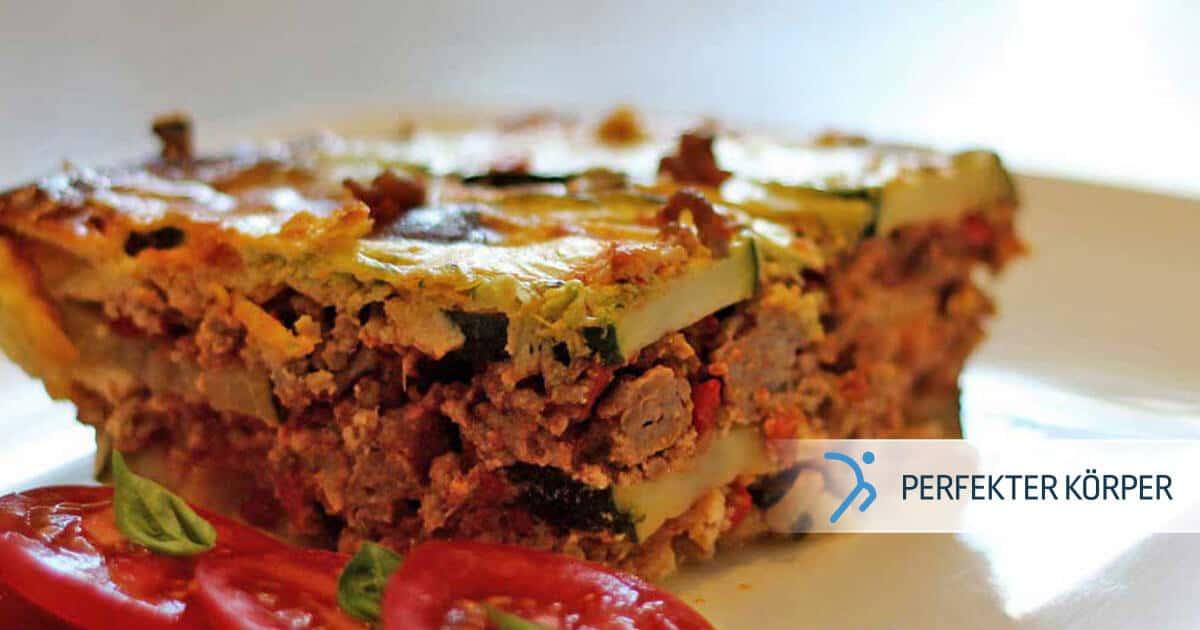 Zucchini-Lasagne mit Hackfleisch
