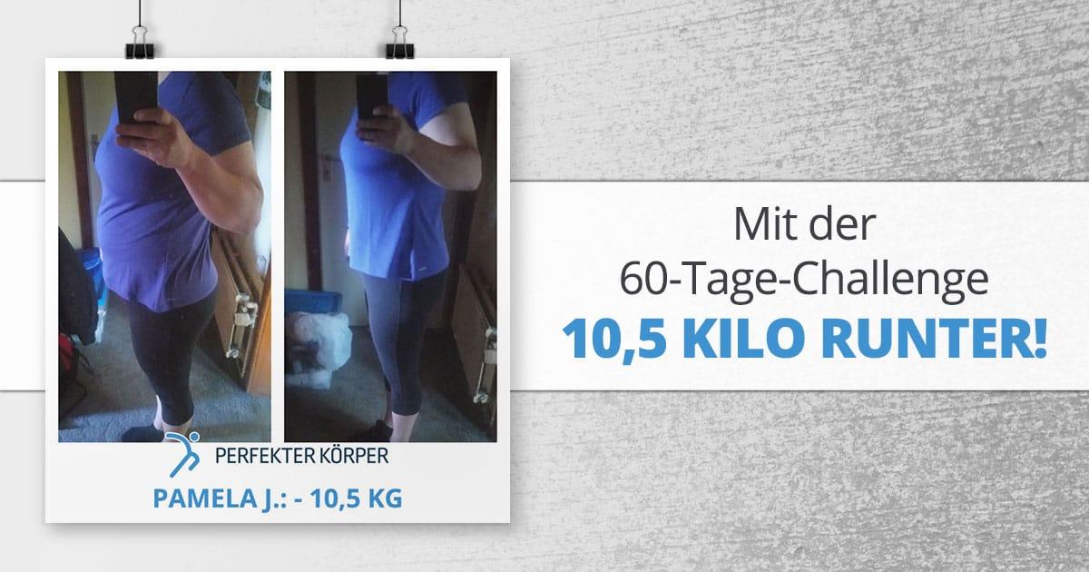 Mit der 60-Tage-Challenge 10,5 Kilo runter!