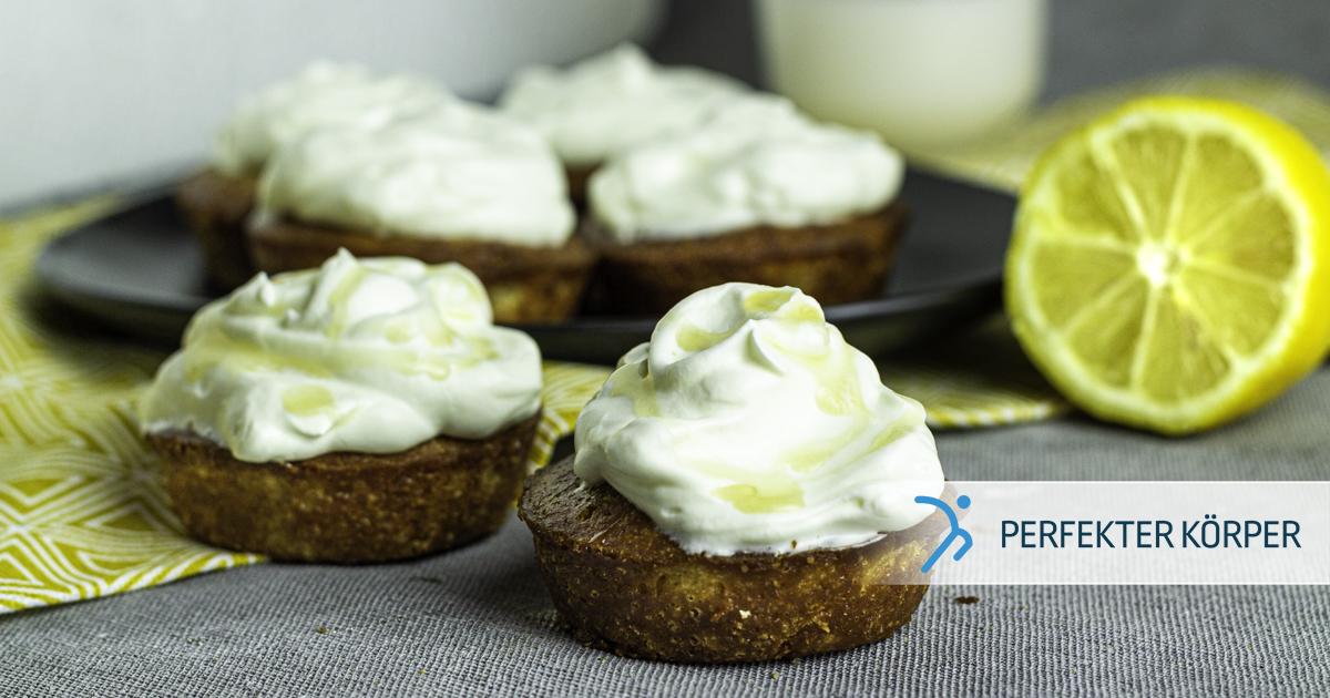 Zitronenmuffins mit Kokoscreme