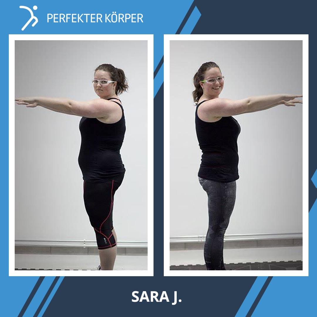 Eine radikale Veränderung, durch die Sara ihre Wunschfigur bekam