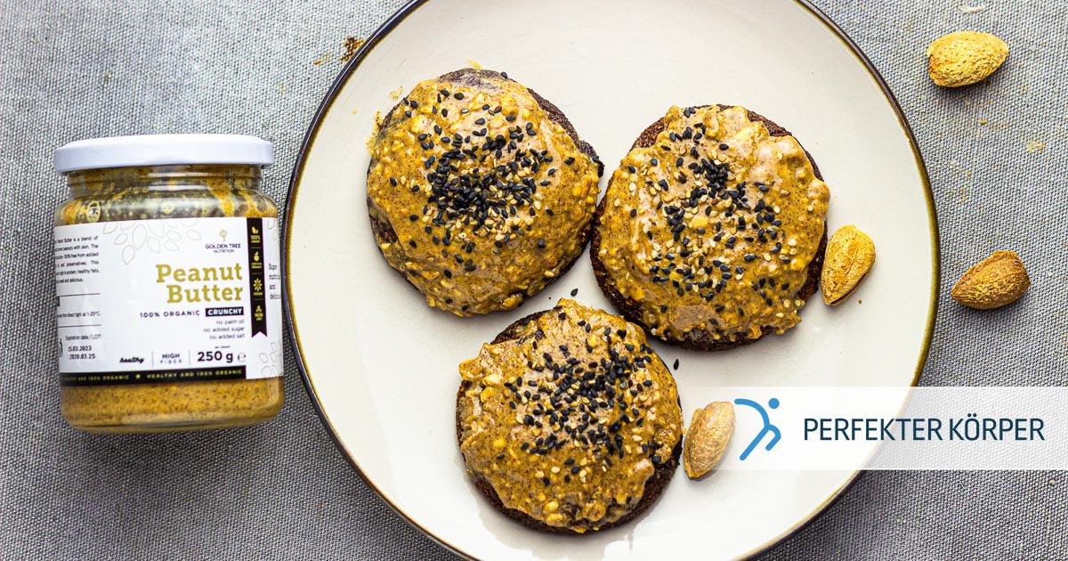 Mandel-Erdnussbutter-Kekse – glutenfrei