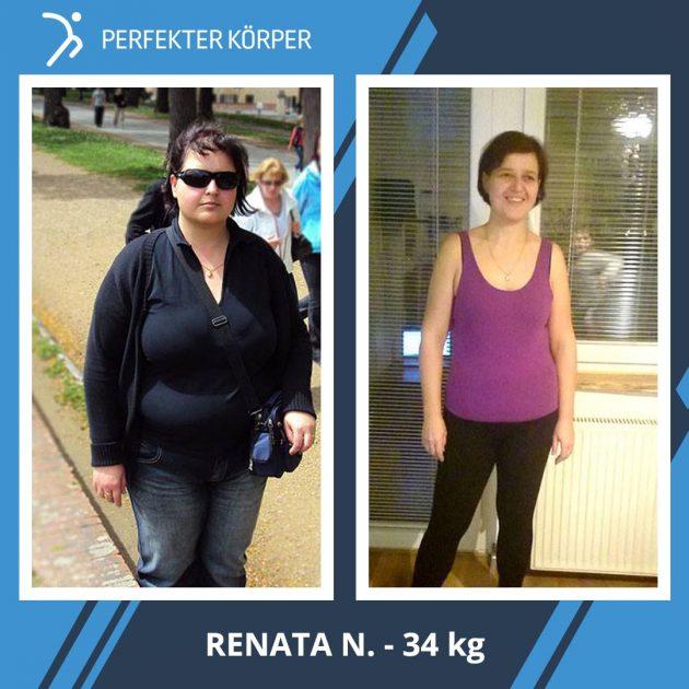 Renata hat unglaubliche 34 kg verloren! Sie hat in 1,5 Jahren das Unmögliche geschafft…