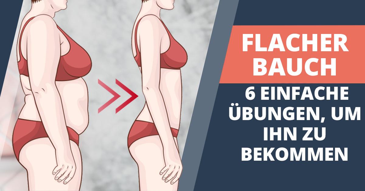 Flacher Bauch – 6 einfache Übungen, um ihn zu bekommen